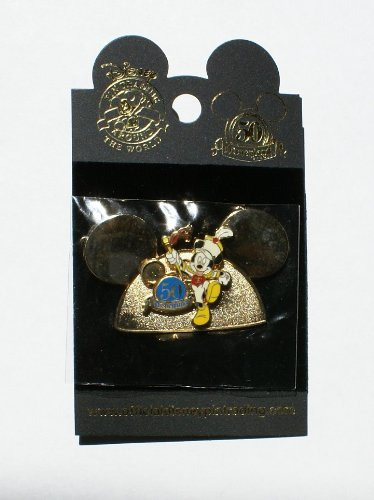 Disneyland 50th Anniversary Pin Marching Mickey Mouse Major Ears Hat Design