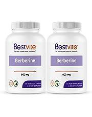 Berberine 500mg (240 Vegetarian Capsules) (2-Pack) - No Fillers - No Stearates - No Flow Agents - Vegan - Gluten Free - Non GMO