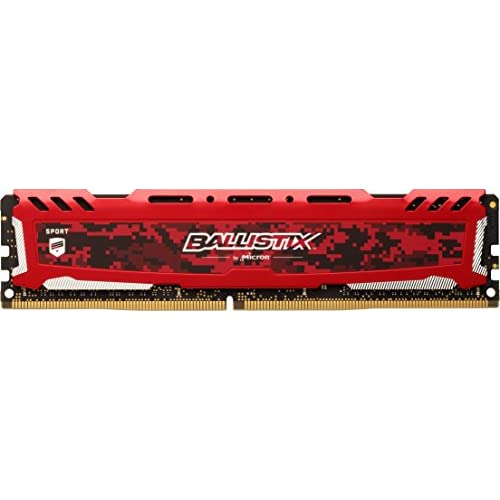 chollos oferta descuentos barato Crucial Ballistix Sport LT BLS8G4D240FSE 2400 MHz DDR4 DRAM Memoria Gamer para ordenadores de sobremesa 8 GB CL16 Rojo