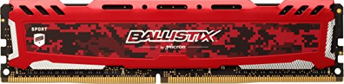 Crucial Ballistix Sport LT 2666 MHz DDR4 DRAM Desktop Gaming Memory Single 8GB CL16 BLS8G4D26BFSEK (Red)