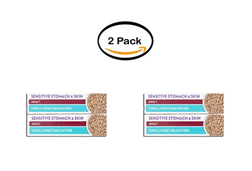 PACK OF 2 - Hill's Science Diet Adult Sensitive Stomach & Skin Tuna & Vegetable Entrée Canned Cat Food, 2.9 oz, 24-pack