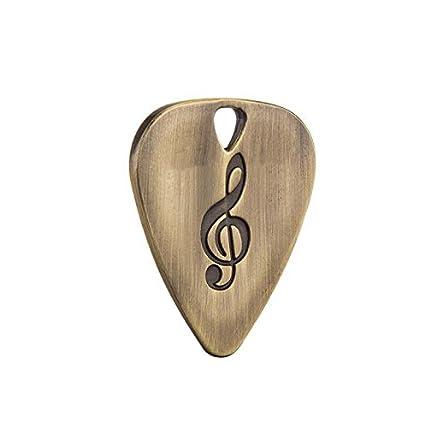 Forfar 1 PC Plumillas de guitarra Guitarra eléctrica de acero inoxidable Plectron Plectron Professional Stringed Instruments