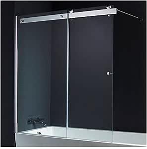 PlaneteBain - Mampara de bañera, corredera, 140 x 150 cm: Amazon.es: Hogar