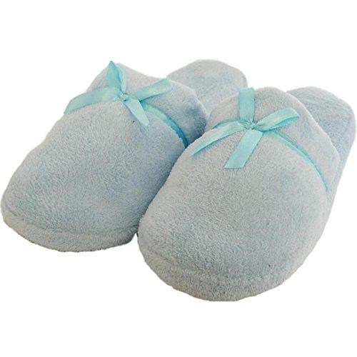 Women's Fuzzy Soft Sole Velvet Lounge House Shoes Indoor Slippers Sandals Flip Flops (6/7, ()