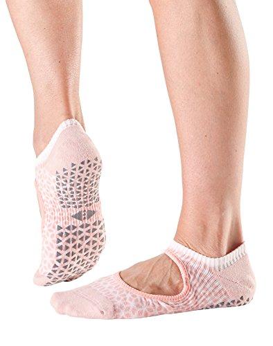 Tavi Noir Chey Mary Jane Organic Knit Non-Slip Grip Socks (Star Guava) Small