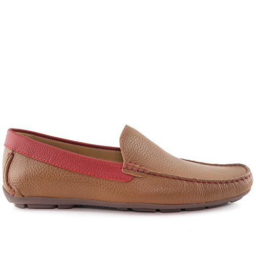 Cognac Style Made Brazil Loafer Grainy San Leather Club USA Men's in Diego Driver Driving TH4qR4
