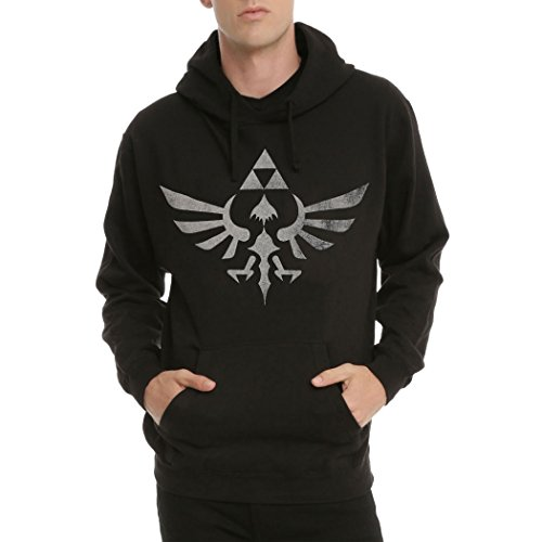 Animation Shops Legend of Zelda Triforce Symbol Hoodie-Large Black -