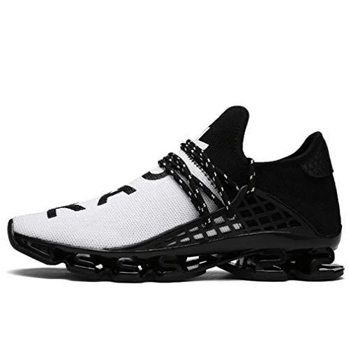 Bianco Fashion Up Junkai Running Sneakers Uomo Sport Scarpe Ginnastica Corsa Casual Athletic Da Donna 02 Trail Unisex Blade Lace Per FfnqUFp