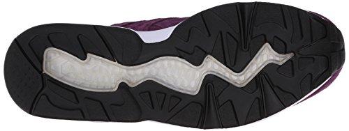 Puma Homme R698 Allover Daim Trinomic Chaussure Italien Prune / Blanc / Noir