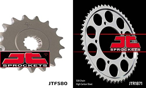 Front & Rear Sproket Kit for YAMAHA YZF-R6-530 Chain Conversion 99-02 JT Sprockets ()