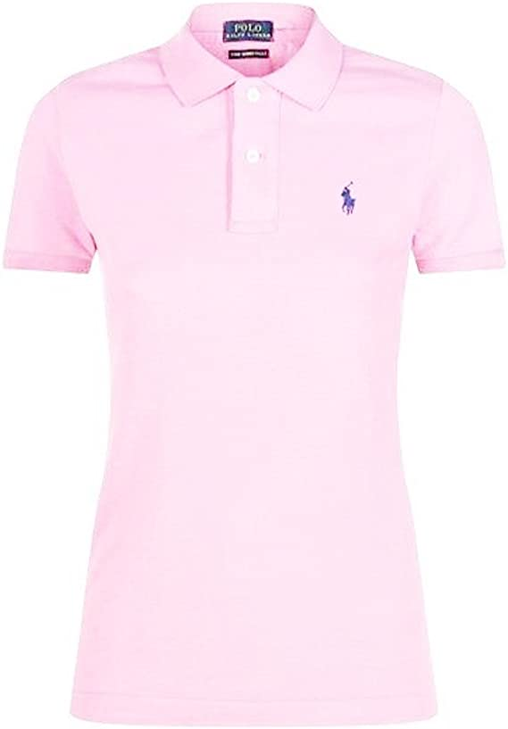 Ralph Lauren - Polo Skinny Fit para mujer (Carmel Pink): Amazon.es ...