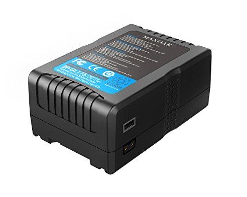 V Mount Battery for Video Camera Camcorder (175Wh Lithium-ion V Mount Battery,not for RED series) 12000mAh/14.8V,Black by MAXOAK