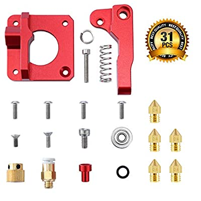 3D Printer Parts, MK8 Extruder Upgrade Replacement, Aluminum Alloy Block Bowden Extruder 1.75mm Filament for Creality Ender3 CR-10 CR-10S S4 S5 CR-7 CR-8 with Nozzle