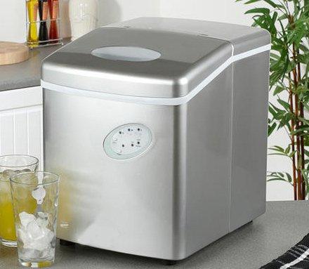 Eiswürfelmaschine - Eismaschine - Eismaschine für die Arbeitsplatte - Neues kompaktes Modell - Kein Wasseranschluss erforderlich - 15kg Eis in 24 Stunden