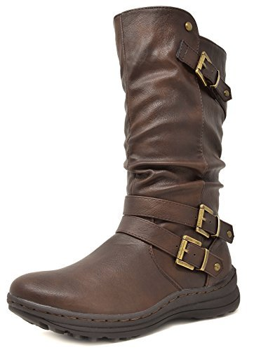 DREAM PAIRS Women's Moscow Fashion Boot - stylishcombatboots.com