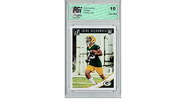Amazon.com: Jaire Alexander 2018 Donruss Football #359 Rookie Card PGI 10: Collectibles & Fine Art