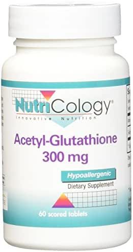 Nutricology Acetyl-Glutathione Supplement, 300 mg, 60 Count