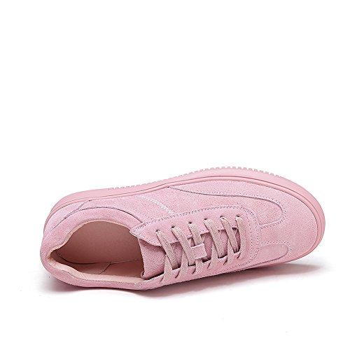 Shenn Modèle Femme Mode Cuir Plateforme Décontractée Baskets Chaussures Lacets rfr6qwxR