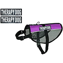 Therapy Dog mesh Vest Harness Cool Comfort Nylon for Dogs Small Medium Purchase Comes with 2 Reflective Therapy Dog Removable Patches. Please Measure Your Dog Before Ordering