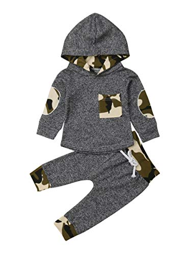 Toddler Infant Baby Boys Dinosaur Long Sleeve Hoodie Tops Sweatsuit Pants Outfit Set (12-18 Months, Style 3) from MA&BABY