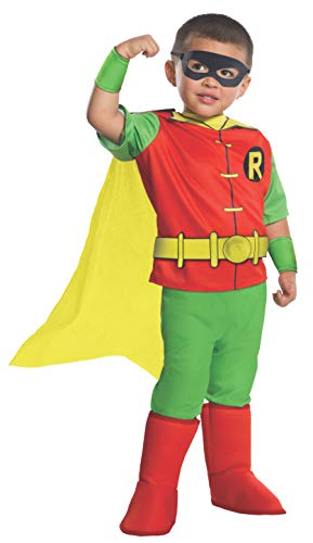 Rubie's Costume DC Comics Toddler Deluxe Robin Costume, X-Small, ()
