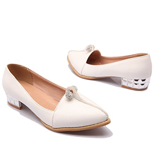 Large Size Ballet Metal Shoes Pointed Kenavinca 8 Spring Female Solid Shoes Shoes 47 Woman Fashion Q1 Red 34 Toe Flats Shoes Women's Casual d577gw