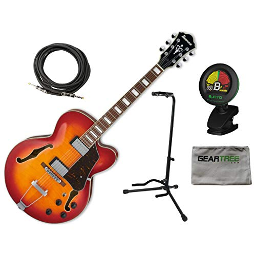 Ibanez Artcore AF75FM AWB Aged Whiskey Burst Hollowbody Guitar w/Tuner, Stand,