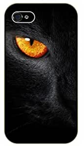 iPhone 5 / 5s Black cat evil eye - black plastic case / Nature, Animals, Places Series