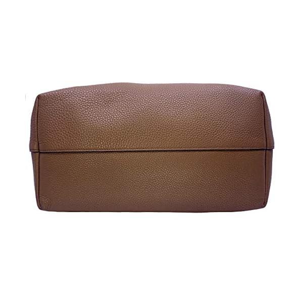 Prada Vitello Phenix Leather Shopping Tote Bag Cannella Brown 1BG203
