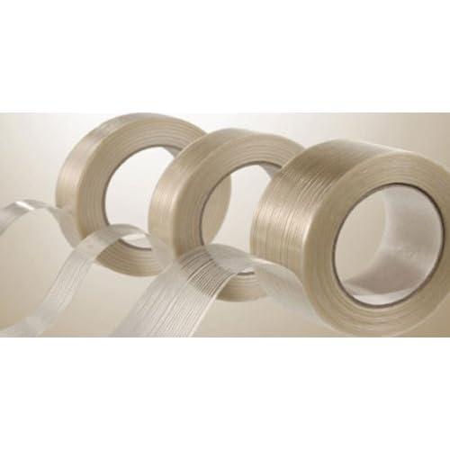 """Hot 24 Rolls Filament Reinforced Tape 1 1/2"""" x 60 Yds Fiberglass Packing 3.9 Mil for cheap"""