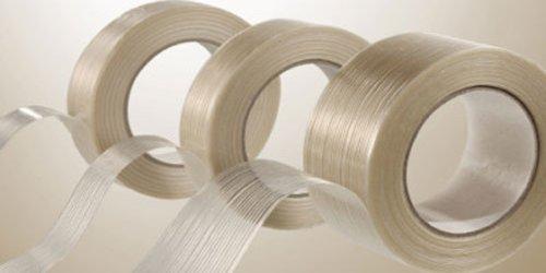 1'' x 60 Yds Filament Reinforced Tape 3.9 Mil Fiberglass Packing 72 Rolls ( 2 Cases ) by PackagingSuppliesByMail