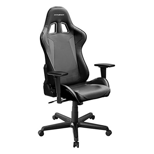 DXRacer Formula Series DOH/FH00/N Newedge Edition Racing Bucket Seat Office Chair Gaming Chair Ergonomic Computer Chair Esports Desk Chair Executive Chair Furniture with Free Cushions (Black)