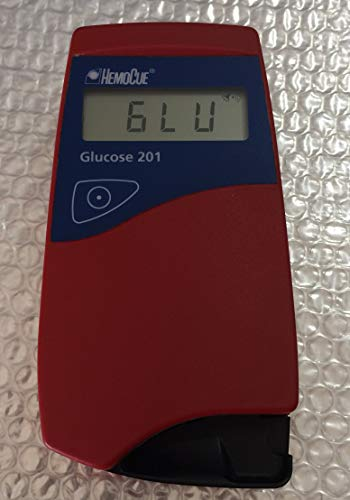 HemoCue 120706-EW1 Glucose 201 Analyzer with Accessories