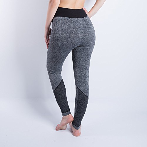 iLUGU Women Gym Yoga Patchwork Sports Running Fitness Leggings Pants Athletic Trouser(S,Black-5) by iLUGU (Image #1)