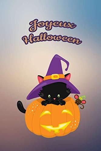 Joyeux Halloween: Pour nos petits : Petit carnet de notes de 121 pages blanches avec couverture et pages sur le thème d'Halloween (Mon petit journal d'Halloween) (French Edition) -
