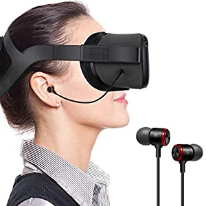 Best Epic Trends 41dqxTbusoL._SS300_ Fottos Noice Cancelling 3.5mm 3D Stereo Sound Earbuds Extra Bass Headphones for Oculus Quest VR Gaming Headset