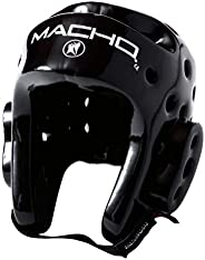 Macho Dyna Headgear for TKD Karate (Black. Large)