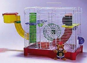 Penn Plax Jungle Gym Hamster Gerbil Cage Habitat - SAM9