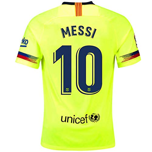 d04705ea8e327 Barcelona Away Jersey 2018-2019 Men s  10 Messi Jersey Color Green Size XL