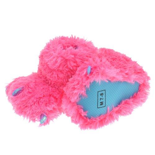 Fluffy Monster Feet Slipper Bootie #ZCH2584_Pink_S