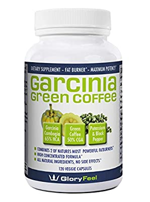 The BEST combination of Garcinia Cambogia Extract And Green Coffee Extract available, 120 Caps proven successful appetite suppressant and weight loss supplement
