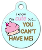 Dog Tag Art Custom Pet ID Tag for Dogs – Cute as a Cupcake – Large – 1.25 inch, My Pet Supplies