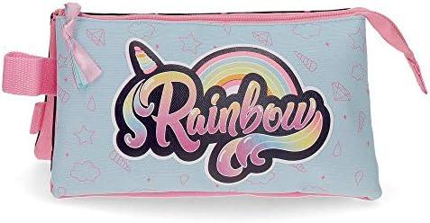 MOVOM Estuche Tres Compartimentos Rainbow, Color Multicolor: Amazon.es: Equipaje