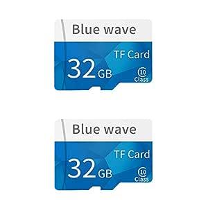 Docooler Tarjeta de Memoria 32G de Gran Capacidad Clase 10 TF Tarjeta Flash Tarjeta TFMemoria de Alta Velocidad para Smartphone (2PCS 32GB)