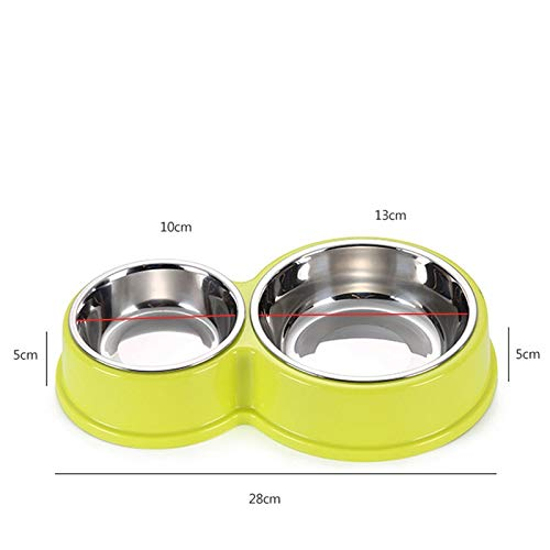 81f2e2dbade9 Amazon.com : Dunnomart Stainless Steel Pet Dog Bowls Double Puppy ...