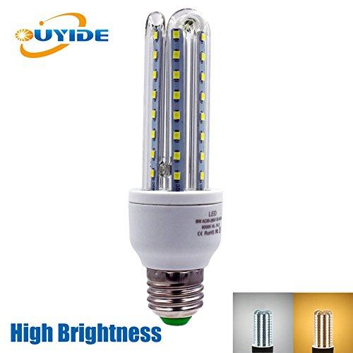 ouyide led corn light bulbs 100 watt equivalent 990lm 9w a19 led bulbs. Black Bedroom Furniture Sets. Home Design Ideas