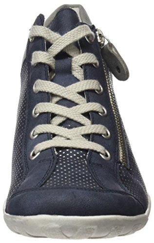 Remonte Damen R3487 Hohe Sneaker Blau (atlantis/pazifik/Silber/Stahl)