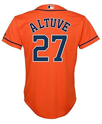 Outerstuff Jose Altuve Houston Astros #27 Orange Youth Cool Base Alternate Replica Jersey (Large - Youth Orange Jersey
