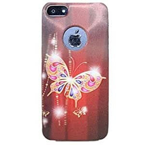 QHY Butterfly Pattern Stereoscopic 3D Case for iphone5/5s