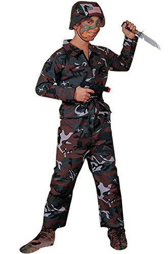Army Outfit Men (Forum Novelties Forest Camo Soldier Costume, Child Large)